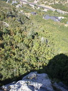 Rock Climbing Photo: Looking down the best part of the climb- P2... and...