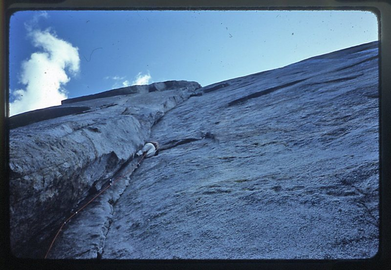 Doug Robinson leading the first pitch of Central Pillar of Frenzy.