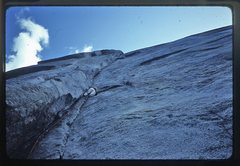 Rock Climbing Photo: Doug Robinson leading the first pitch of Central P...