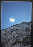 Rock Climbing Photo: Doug Robinson leading the second pitch of Central ...