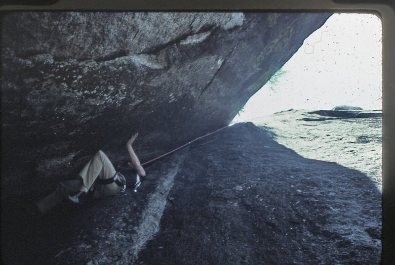 Rock Climbing Photo: Bruce Diffenbaugh in his first Yosemite chimney.