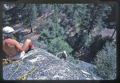 Rock Climbing Photo: Doug Robinson belays me up Nutcracker.