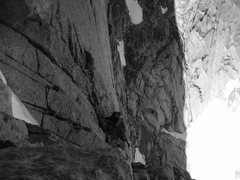 Rock Climbing Photo: Jacob took of photo of me at the belay while he le...