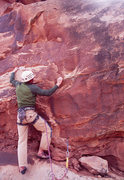 Rock Climbing Photo: Ben Kiessel leaving the notch on the short, loose ...