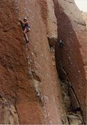 Rock Climbing Photo: I like this shot with the other climber in the bac...