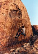Rock Climbing Photo: Me on the lower moves of Power Pack.