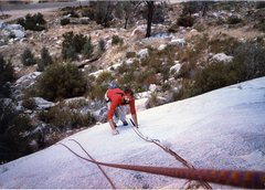 Rock Climbing Photo: My brother Doug Odenthal at the Kernville Slabs.
