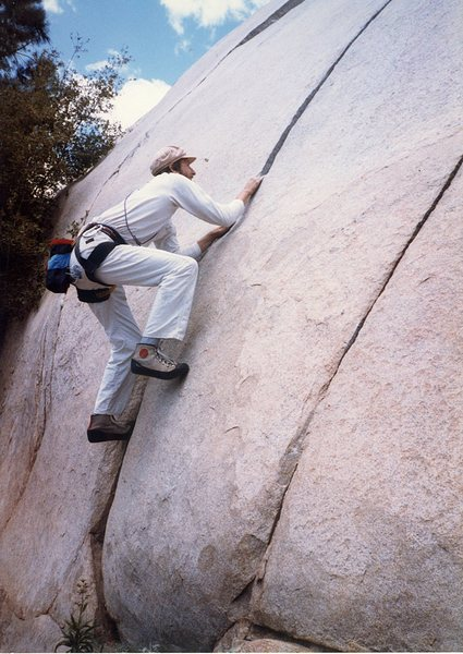 Rock Climbing Photo: Me at the base of the Kernville Slabs checking out...