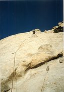 Rock Climbing Photo: On the FA. Rob Mulligan Drilling the 3rd bolt, I d...