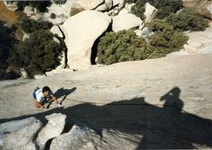 Rock Climbing Photo: Looking down the route at Rob Mulligan.