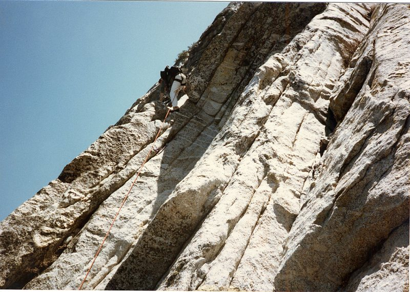 My brother Doug Odenthal somewhere on the north face.
