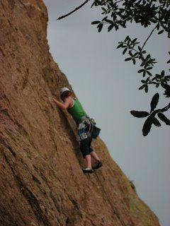 Rock Climbing Photo: Leading Baby Jr. Gets Spanked Cochise Stronghold, ...