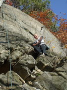 Rock Climbing Photo: Elin found a sit rest on this route... must be nic...