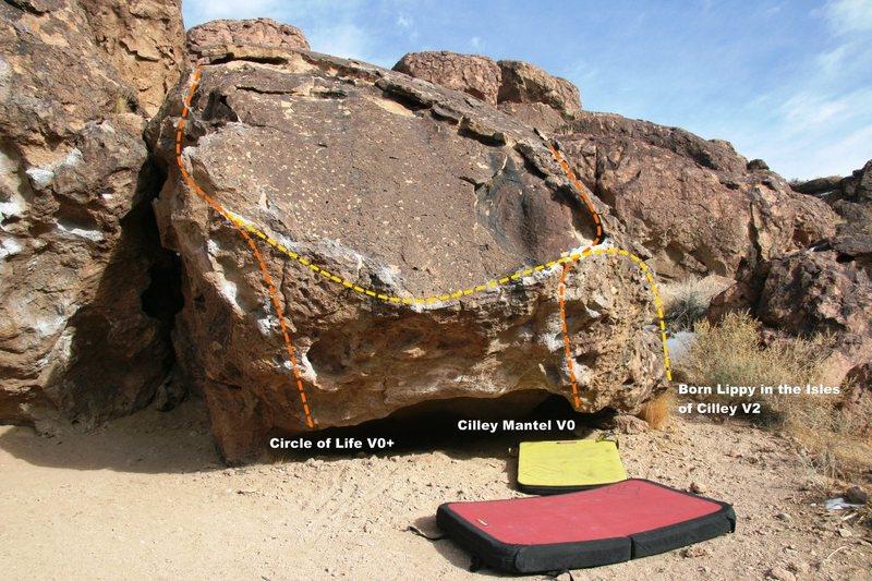 Cilley Boulder west face topo