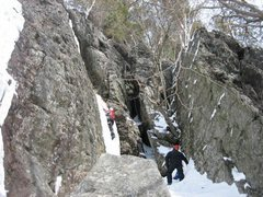 Rock Climbing Photo: The Cave Route from a distance