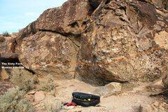 Rock Climbing Photo: The Sixty Foot Woman Traverse Topo