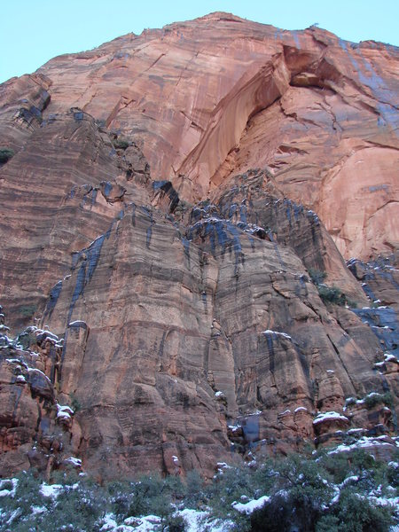 Rock Climbing Photo: from the road, with approach pitches in view