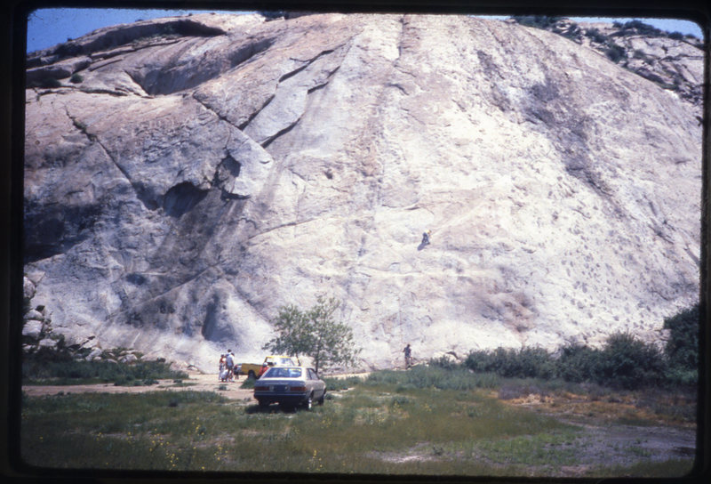 Rock Climbing Photo: Big Rock in the 80's when you could park at the ro...