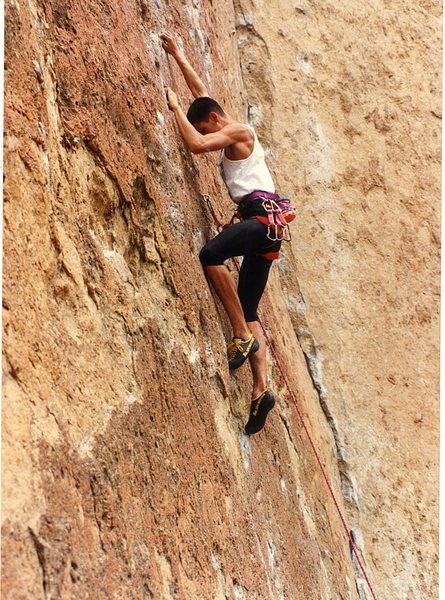 Rock Climbing Photo: And my British friend for the day.