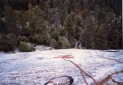 Rock Climbing Photo: My brother Doug Odenthal at Dome Rock. Tree Route?