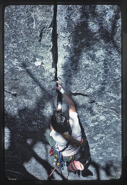 Rock Climbing Photo: Bruce Diffenbaugh mid 80's.