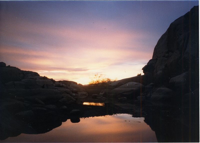 Sunset at Barker Dam.