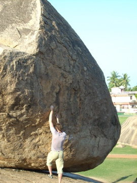 Rock Climbing Photo: Krishna's Butterball . . . the locals have tried t...