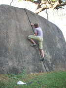 Rock Climbing Photo: Super-Classic, moderate splitter finger crack.