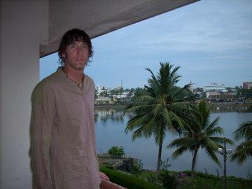 Me, in Koallam, India.