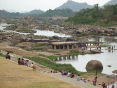 Rock Climbing Photo: The river that splits the 2 sides of Hampi . . . t...