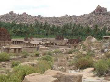 Rocks and ruins around Hampi.