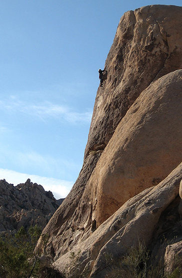 A random climber strolling up &quot;Sweat Band&quot;.<br> Photo by Blitzo.
