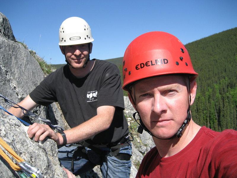 Rock Climbing Photo: Brian and I at Crackland, east Grapefruits, AK