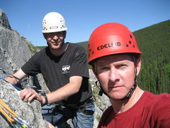 Rock Climbing Photo: Brian and I at Crackland, east Grapefruits, AK