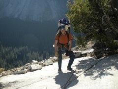 Rock Climbing Photo: On the way down.