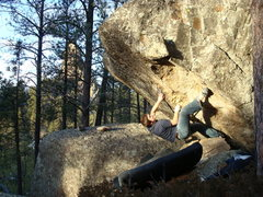 Rock Climbing Photo: Josh on a fun little boulder problem in the Marker...