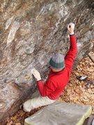 Rock Climbing Photo: FA, The Wall of Mordor(V6), CT
