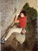 Rock Climbing Photo: Bruce Diffenbaugh Boobs Boulder V0 80's