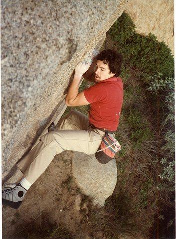 Rock Climbing Photo: Bruce Diffenbaugh 80's