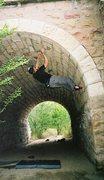 Rock Climbing Photo: Limestone bridge bouldering in Colorado Springs