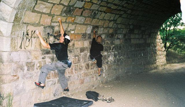 Rock Climbing Photo: More CS limestone bridge bouldering