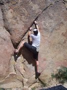 Rock Climbing Photo: V2 crack at Cochise Stronghold, AZ