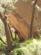 Rock Climbing Photo: A Bob Murray V8 at Cochise Stronghold, AZ...The No...