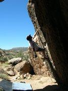 Rock Climbing Photo: A V2/3 highball at Unaweep Canyon, CO