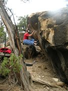 Rock Climbing Photo: Mono-e-mono V5 at Joe's Valley, UT
