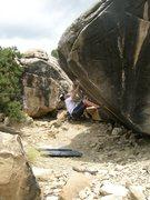 Rock Climbing Photo: A variation(V9) of Resident Evil(V10) and Standup(...