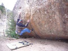 Rock Climbing Photo: A V4 at Estes Park, CO