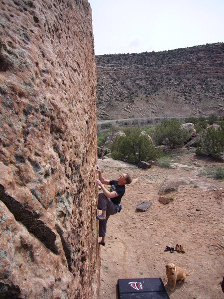 Rock Climbing Photo: Same V6/V7 HB at Unaweep Canyon, CO