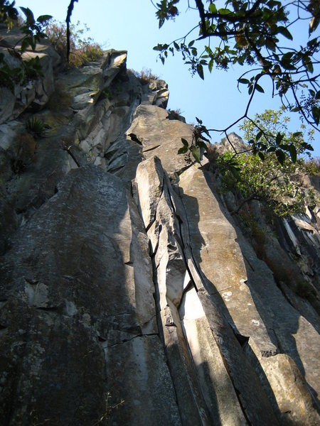 Rock Climbing Photo: the start of Las Hormigas, for reference. if you z...