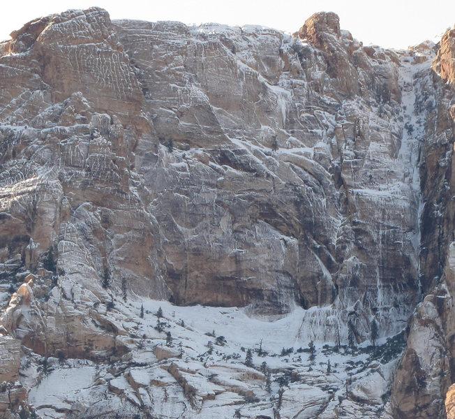 Horseshoe Wall frozen.